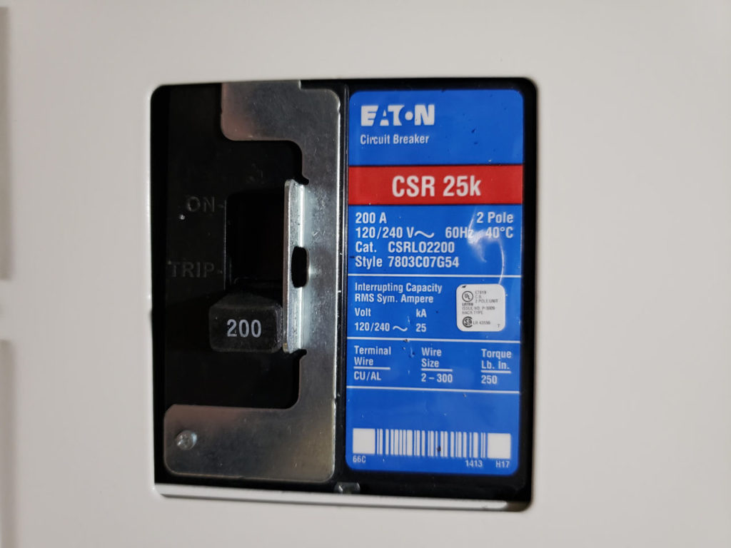 Electrical Panel Upgrade 200 Amp Circuit